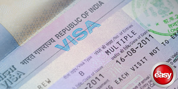 Picture of an India Visa