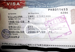 An Example of a South Korea Student Visa